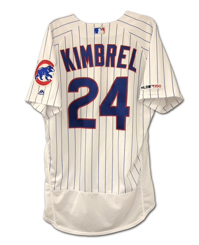 Photo of Craig Kimbrel Game-Used Jersey -- 1 IP, 0 ER, 0 H -- 6th Save -- 7/20/19 -- Padres vs. Cubs