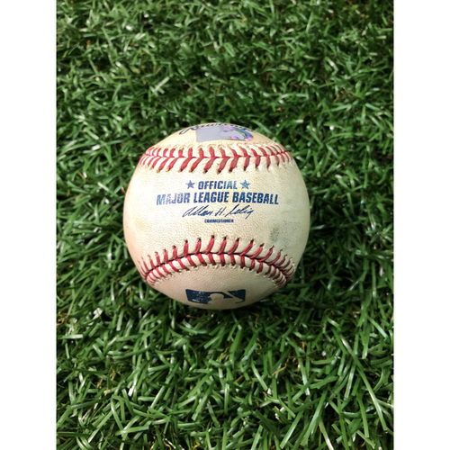 Photo of 2008 Game Used Autographed ALCS Game Six Baseball: B.J. Upton - October 18, 2008 v BOS