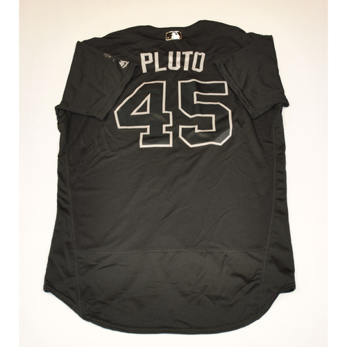 "Photo of Adam ""Pluto"" Plutko Cleveland Indians Game-Used 2019 Players' Weekend Jersey"