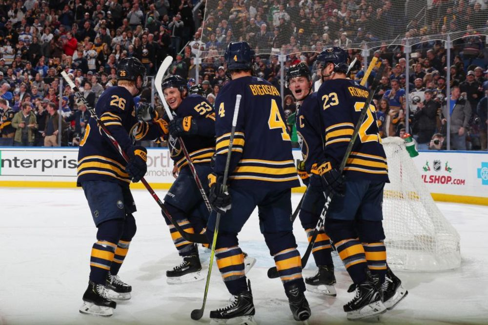 Buffalo Sabres vs. Calgary Flames 11-27-19, Sec 123, Row 8 Seats 7 & 8