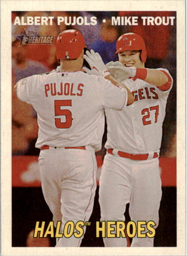 Photo of 2016 Topps Heritage Combo Cards #CC4 Albert Pujols/Mike Trout