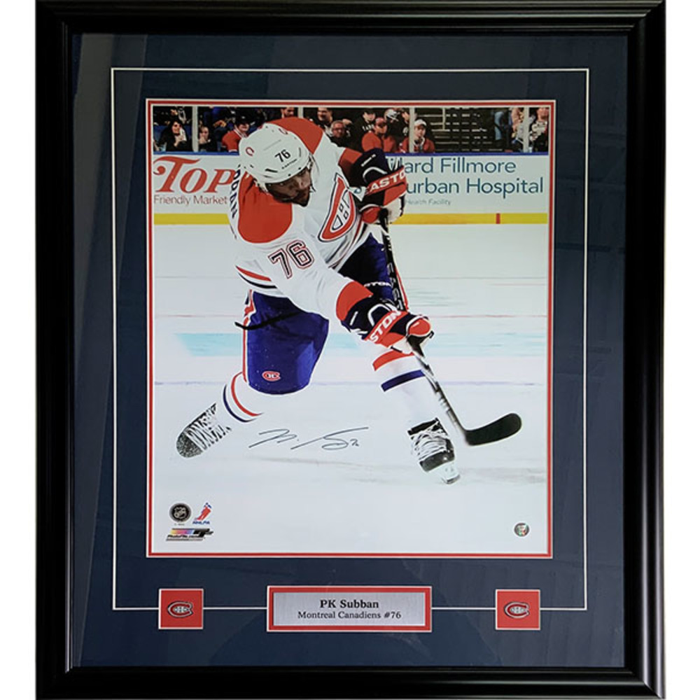 P.K. Subban Framed Autographed Montreal Canadiens 16X20 Photo