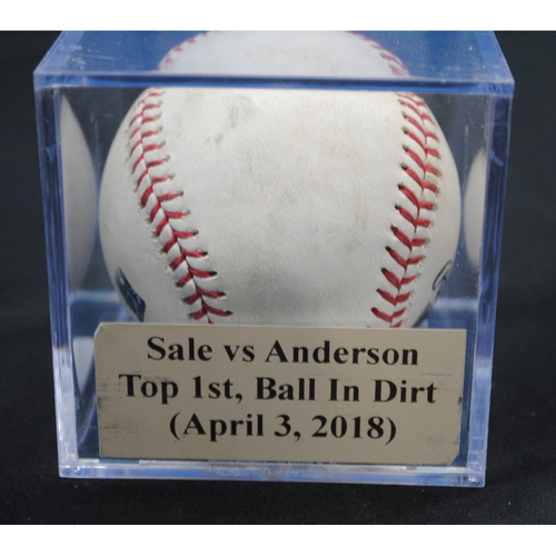 Photo of Game-Used Baseball: Chris Sale vs Brian Anderson, Bot. 1st, Ball In Dirt (April 3, 2018)