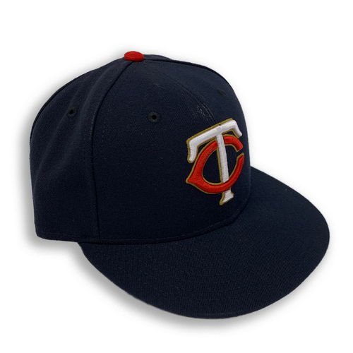 Photo of Minnesota Twins 2019 Team-Issued Home Navy Cap with Gold Outline - Choose Your Number and Size!
