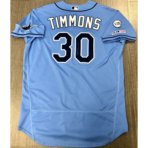 Photo of Team Issued Autographed Jersey: Ozzie Timmons