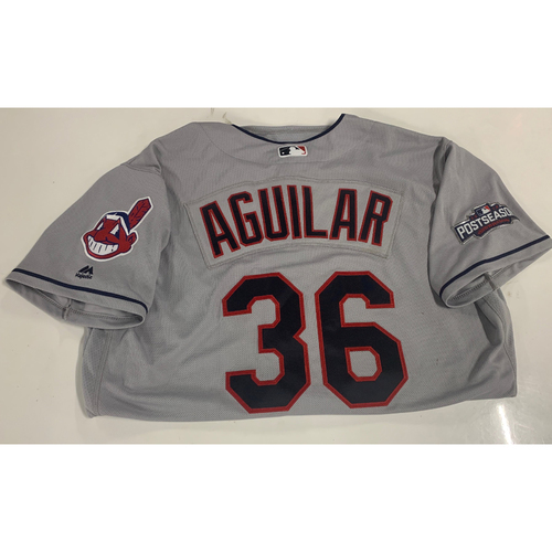 Photo of Team Issued 2016 Road Postseason Jersey - Jesus Aguilar #36