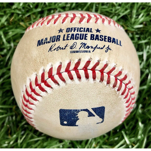 Photo of Game Used Baseball: Jackie Bradley Jr. foul ball off John Curtiss - September 10, 2020 v BOS