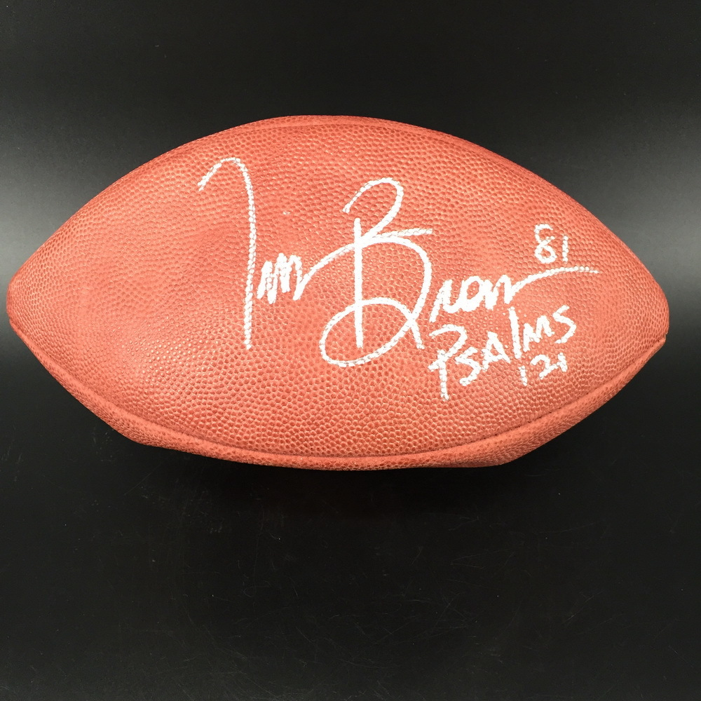 NFL - Raiders Tim Brown Signed Authentic Football (Deflated)