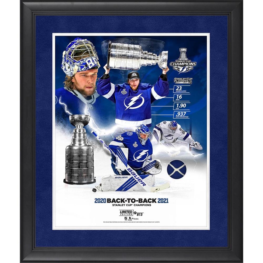 Andrei Vasilevskiy Tampa Bay Lightning 2021 Stanley Cup Champions Framed 16
