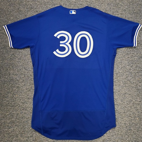 Photo of Authenticated Team Issued Spring Training Jersey: #30 Alejandro Kirk (2021 Season). Size 50.