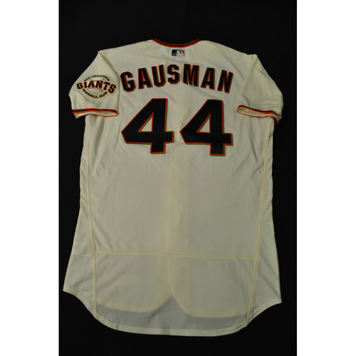 Photo of Hank Aaron Chasing the Dream Foundation: Kevin Gausman 2021 MLB All-Star Workout Day BP-Worn # 44 Jersey