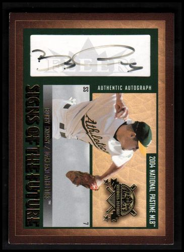 Photo of 2004 National Pastime Signs of the Future Gold #BC Bobby Crosby/299