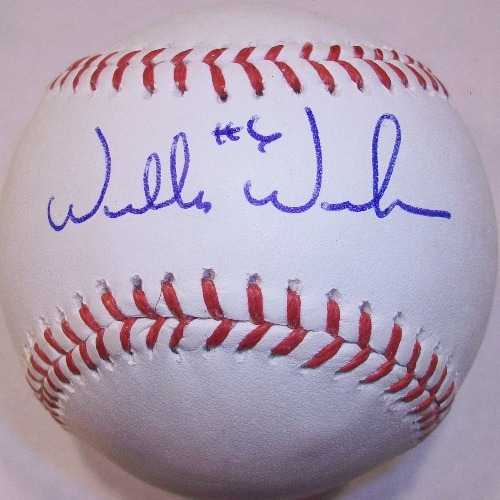 Willie Wilson Autographed Baseball