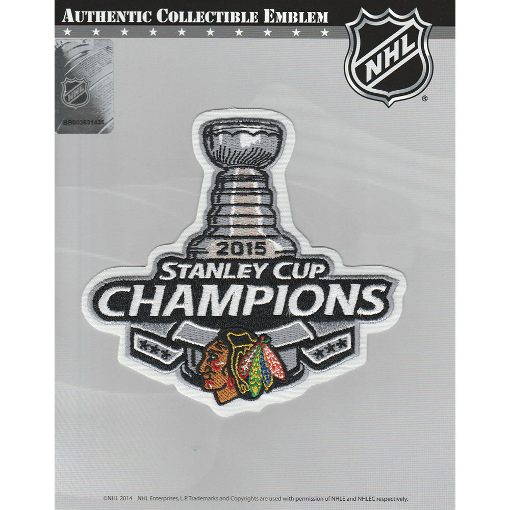 Chicago Blackhawks 2015 Stanley Cup Champions Jersey Patch