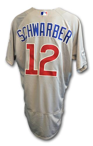 Kyle Schwarber Game-Used Jersey -- NLDS Game 2 -- Cubs at Nationals -- 10/7/17