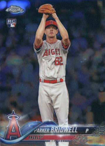 Photo of 2018 Topps Chrome #77 Parker Bridwell RC