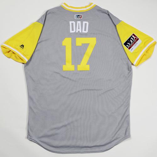 "Photo of A. J. ""Dad"" Ellis San Diego Padres Game-Used 2018 Players' Weekend Jersey"