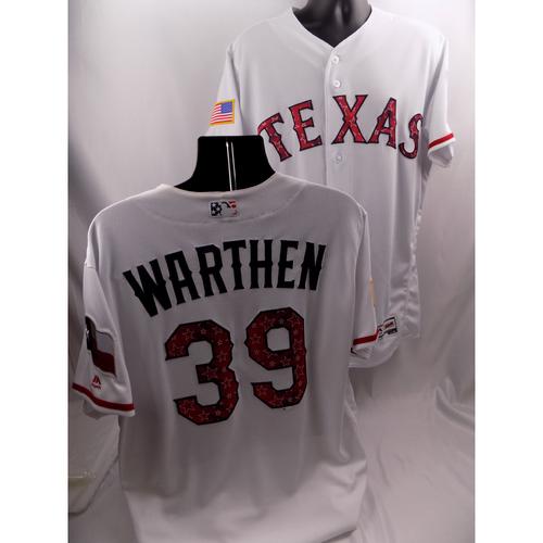 Photo of Team-Issued Stars & Stripes Jersey - Dan Warthen