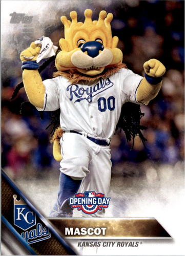 Photo of 2016 Topps Opening Day Mascots #M14 Royals Mascot