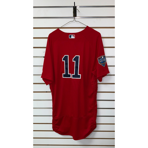 Photo of Rafael Devers Team Issued 2018 World Series Home Alternate Jersey