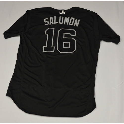 "Photo of Domingo ""SALOMON"" Santana Seattle Mariners Team-Issued 2019 Players' Weekend Jersey"
