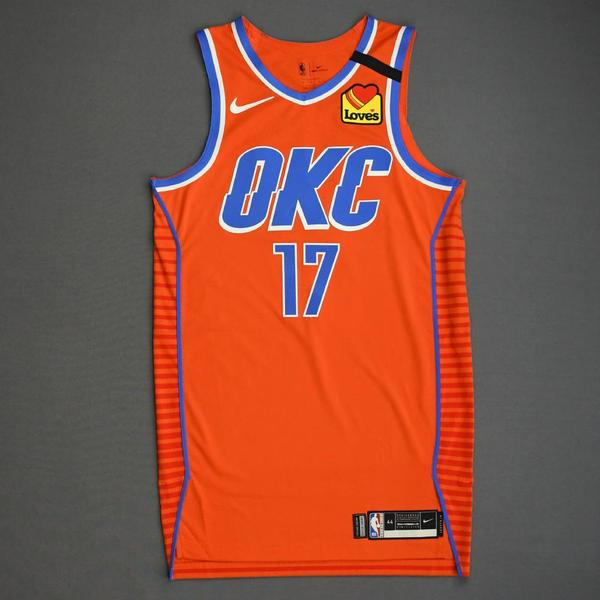 Image of Dennis Schroder - Oklahoma City Thunder - Game-Worn Statement Edition Jersey - 2019-20 NBA Season Restart with Social Justice Message