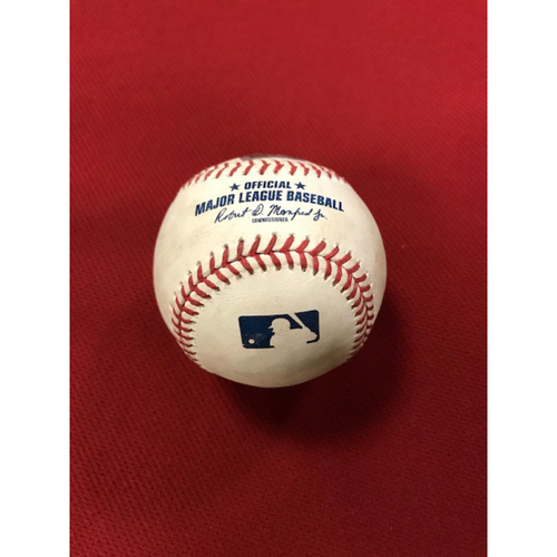 Photo of 8/4/20 Game-Used Baseball, Houston Astros at Arizona Diamondbacks: Top of the 8th, Taylor Widener vs. Josh Reddick (Singled to center field, advanced Carlos Correa to 2nd) and Abraham Toro-Hernandez (Called Strike, Ball in Dirt)