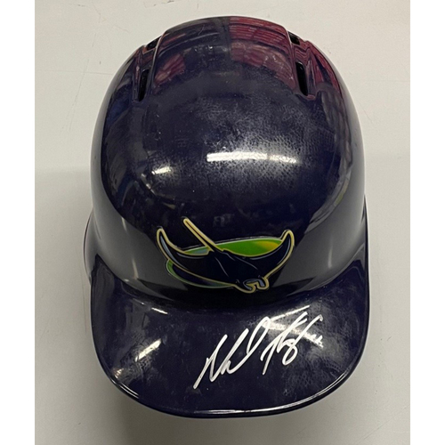 Photo of Rays Baseball Foundation: Team Issued Autographed Devil Rays Helmet - Michael Perez