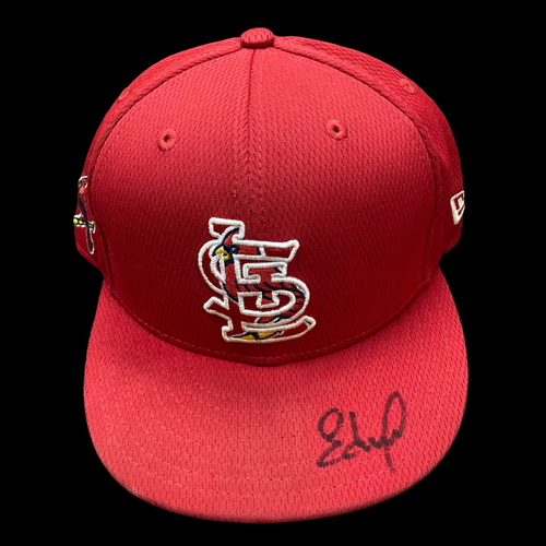 Photo of Edmundo Sosa Autographed Team Issued 2020 Spring Training Cap (Size 7 3/8)