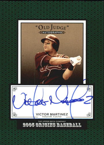 Photo of 2005 Origins Old Judge Autographs #VM Victor Martinez T3