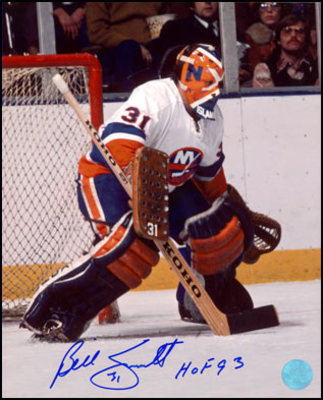 BILLY SMITH New York Islanders SIGNED 16x20 Photo
