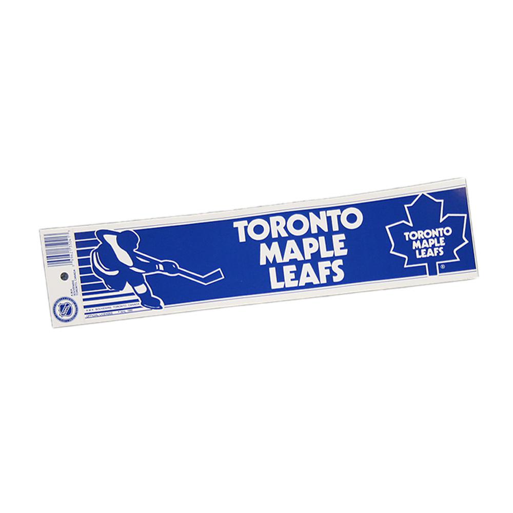 Vintage NHL TORONTO MAPLE LEAFS Bumper Sticker - Unused - NOS - NM - STYLE B