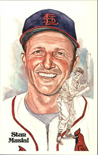 Photo of 1980-02 Perez-Steele Hall of Fame Postcards #114 Stan Musial -- HOF Class of 1969