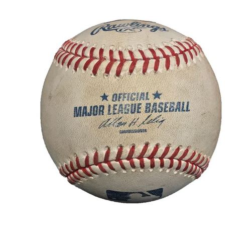 Game-Used Baseball from Pirates vs. Orioles on 5/21/14 - Nelson Cruz 2 RBI Double
