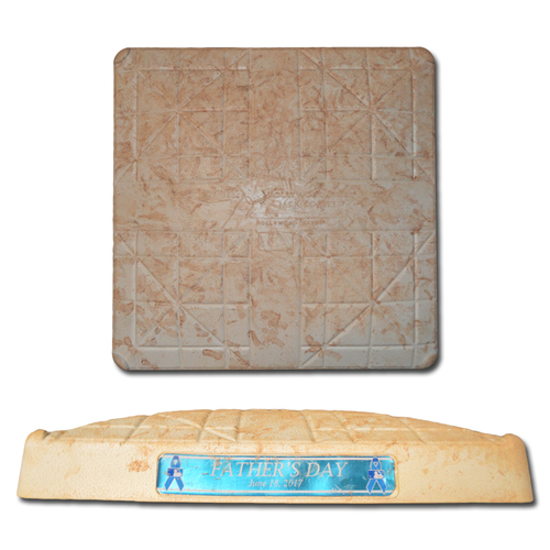 Game Used Base - 1st Base, Innings 1-3 - On-Field for Jacob deGrom's 1st Career Home Run - Father's Day Jewel - Mets vs. Nationals - 6/18/17