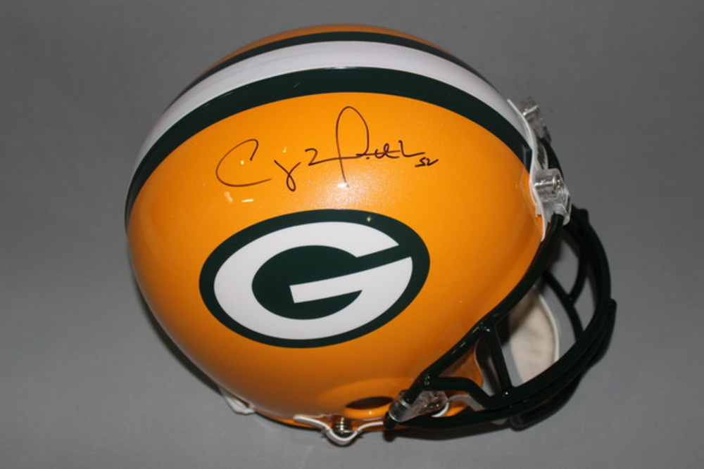 PCC - PACKERS CLAY MATTHEWS SIGNED PACKERS PROLINE HELMET