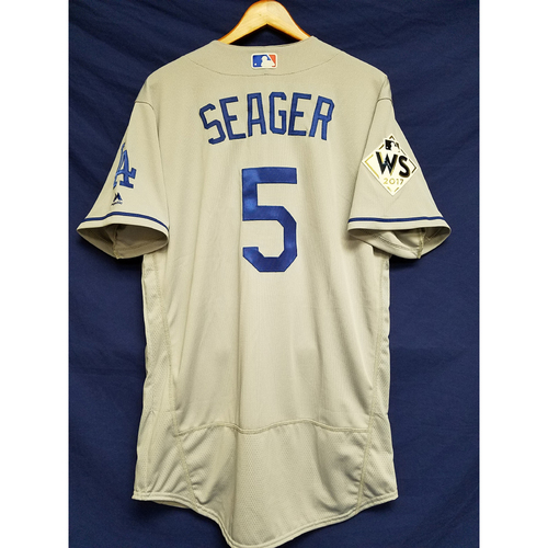 Photo of Corey Seager 2017 Road World Series Team-Issued Jersey