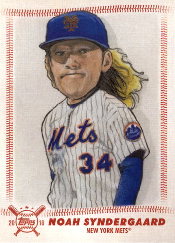Photo of 2018 Topps Big League Star Caricature Reproductions #SCRNS Noah Syndergaard