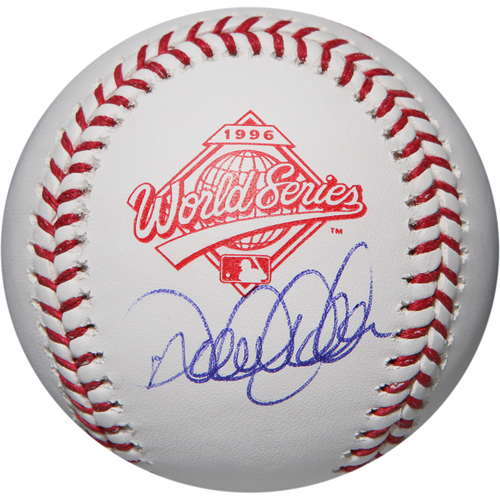Photo of Derek Jeter Autographed 1996 World Series Logo Baseball