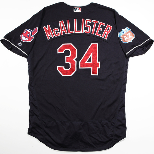 Photo of 2016  Spring Training -  Game-Used Jersey - Zach McAllister (Indians) - Size 50