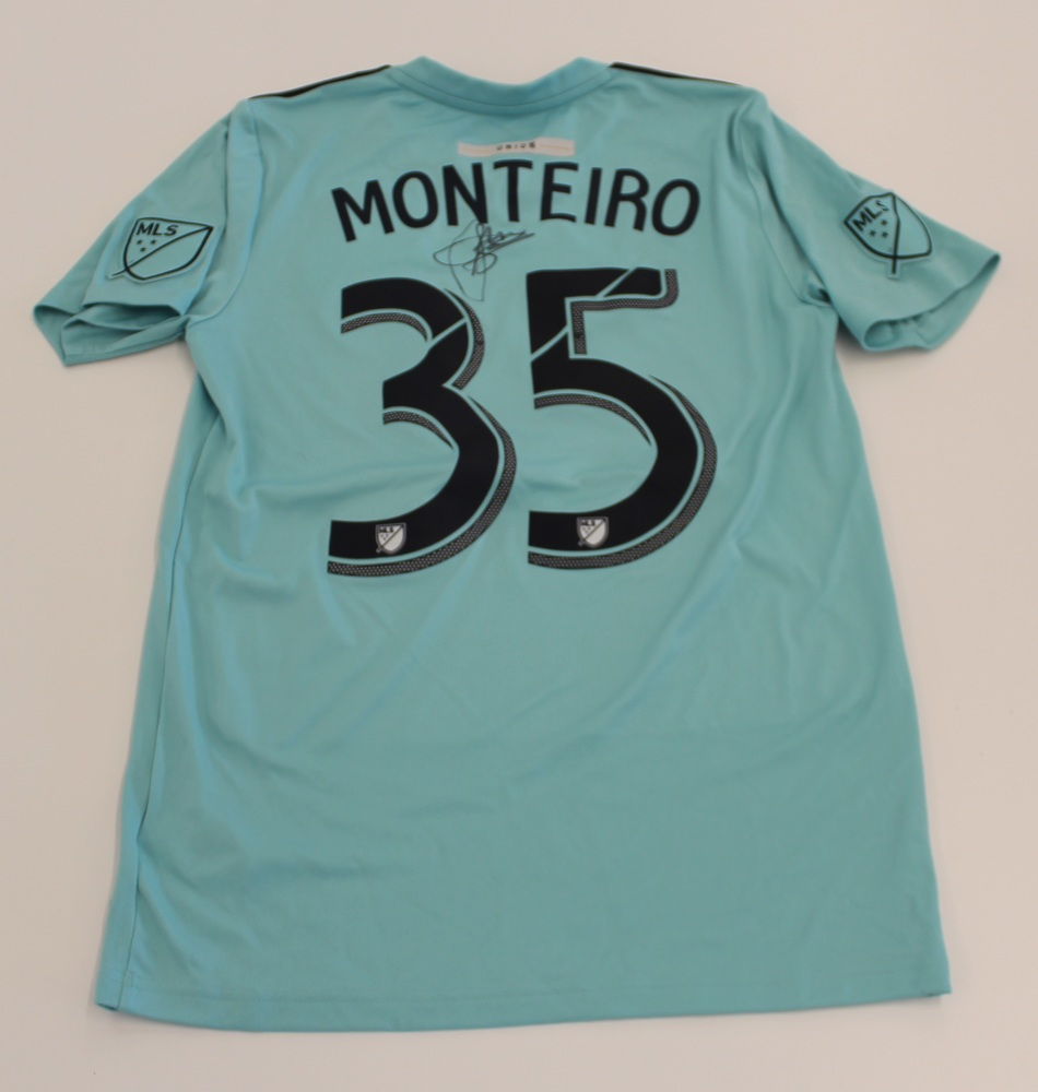 Jamiro Monteiro Philadelphia Union Used, Signed 2019 Adidas Parley Jersey