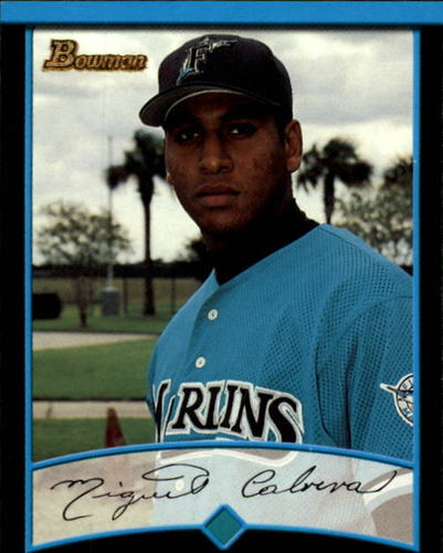 Photo of 2001 Bowman #299 Miguel Cabrera UER/Denny Bautista pictured