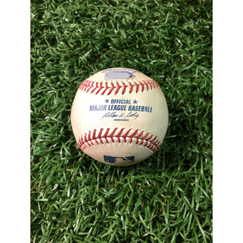 2008 Game Used Autographed ALCS Game Six Baseball: Rocco Baldelli - October 18, 2008 v BOS