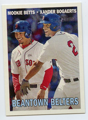 Photo of 2016 Topps Heritage Combo Cards #CC11 Xander Bogaerts/Mookie Betts