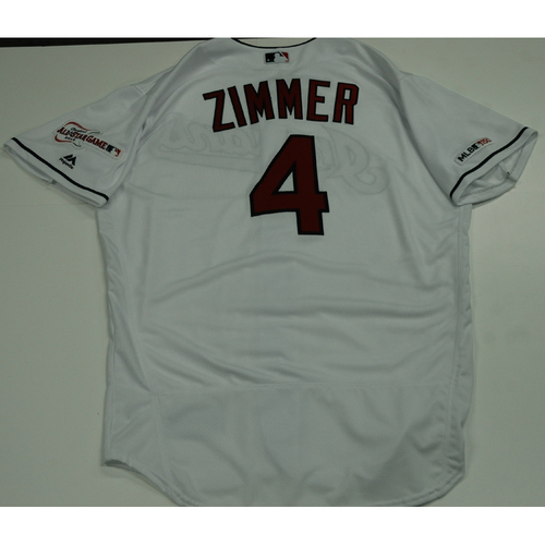 Photo of Bradley Zimmer 2019 Team Issued Home White Jersey
