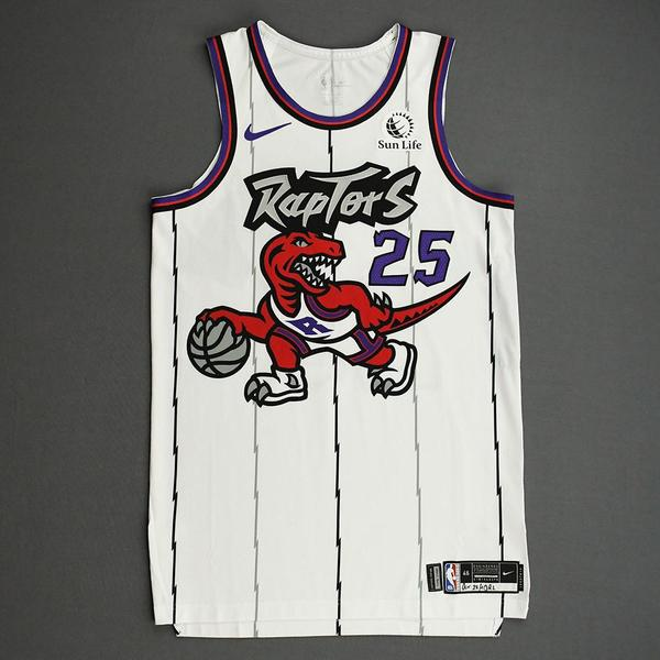 Image of Chris Boucher - Toronto Raptors - Game-Worn Classic Edition 1995-96 Home Jersey - 2019-20 Season