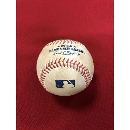 8/6/20 Game-Used Baseball, Houston Astros at Arizona Diamondbacks: Zac Gallen vs. Yulieski Gurriel (Singled, Scored Jose Altuve) and Carlos Correa (Ball)