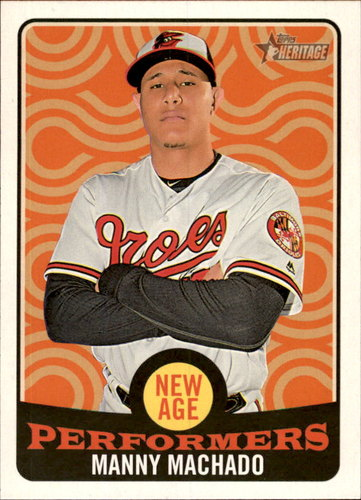 Photo of 2017 Topps Heritage New Age Performers #NAP8 Manny Machado