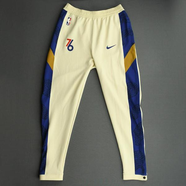 Image of Alec Burks - Philadelphia 76ers - Game-Issued Earned Edition Game Theater Pants  - 2019-20 NBA Season