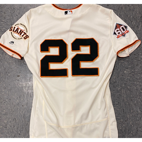 Photo of 2020 Black Friday Sale - 2018 Game Used Home Cream Jersey worn by #22 Andrew McCutchen on 7/29 vs. MIL - 1-3, R, BB - Size 42